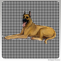 Great Dane Houndzstooth Coasters