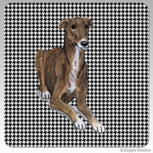 Greyhound Houndzstooth Coasters