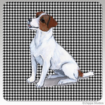 Jack Russell Houndzstooth Coasters