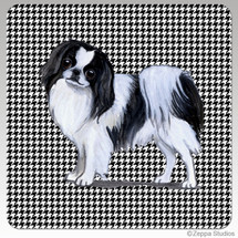 Japanese Chin Houndzstooth Coasters