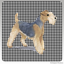 Lakeland Terrier Houndzstooth Coasters