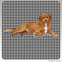 Nova Scotia Duck Tolling Retriever Houndzstooth Coasters