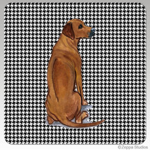 Rhodesian Ridgeback Houndzstooth Coasters - Rectangle
