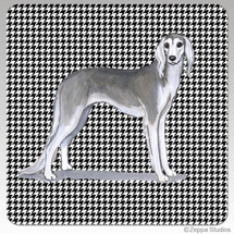 Saluki Houndzstooth Coasters - Rectangle