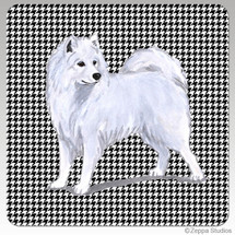 Samoyed Houndzstooth Coasters - Rectangle