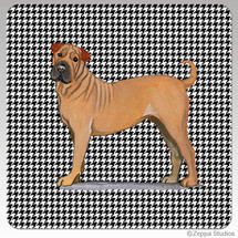 Sharpei Houndzstooth Coasters - Rectangle