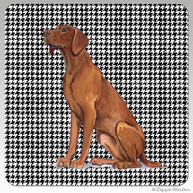 Vizsla Houndzstooth Coasters - Rectangle