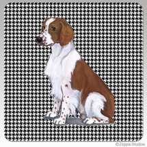 Welsh Springer Houndzstooth Coasters