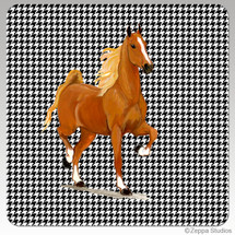 Saddlebred Horse Houndzstooth Coasters