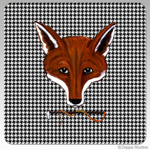 Fox Mask  Houndzstooth Coasters
