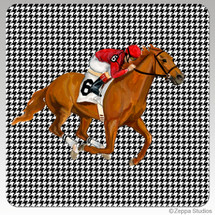 Race Horse  Houndzstooth Coasters