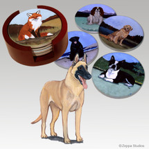 Belgian Malinois Bisque Coaster Set