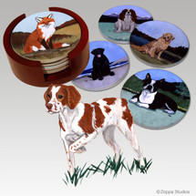 Brittany Bisque Coaster Set