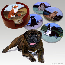 Bull Mastiff Bisque Coaster Set