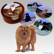 Chow Chow Bisque Coaster Set