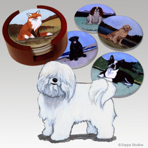 Coton du Tulear Bisque Coaster Set
