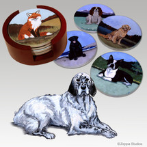 English Setter Bisque Coaster Set