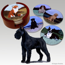 Giant Schnauzer Bisque Coaster Set