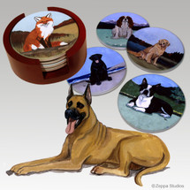 Great Dane Bisque Coaster Set