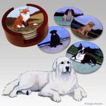 Great Pyrenees Bisque Coaster Set
