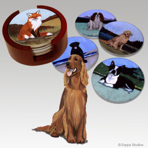 Irish Setter Bisque Coaster Set