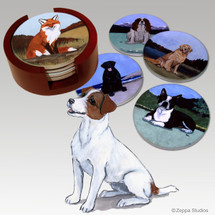 Jack Russell Terrier Bisque Coaster Set