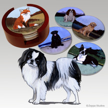 Japanese Chin Bisque Coaster Set