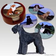 Kerry Blue Terrier Bisque Coaster Set