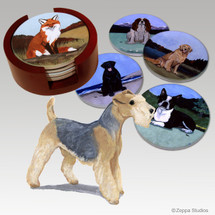 Lakeland Terrier Bisque Coaster Set