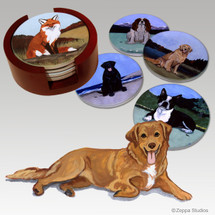Nova Scotia Duck Tolling Retriever Bisque Coaster Set