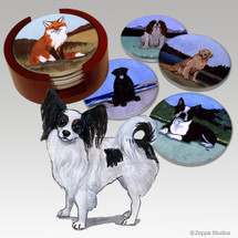 Papillon Bisque Coaster Set