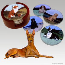 Pharaoh Hound Bisque Coaster Set
