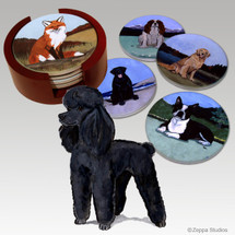 Poodle Bisque Coaster Set