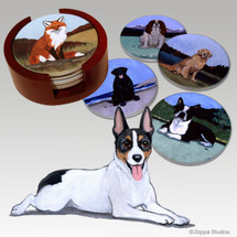 Rat Terrier Bisque Coaster Set