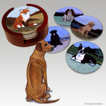 Rhodesian Ridgeback Bisque Coaster Set