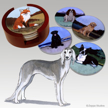 Saluki Bisque Coaster Set