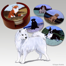 Samoyed Bisque Coaster Set