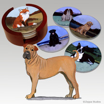Sharpei Bisque Coaster Set