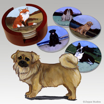 Tibetan Spaniel Bisque Coaster Set