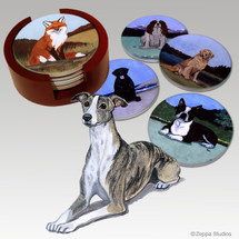 Whippet Bisque Coaster Set