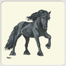 Friesian Horse Beverage Coasters
