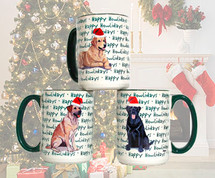 Lacy Dog Christmas Mugs
