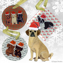 Puggle Christmas Ornament