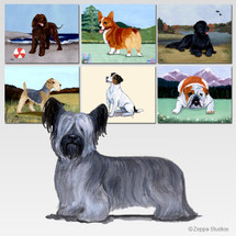 Skye Terrier Scenic Mouse Pad - Rectangle