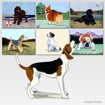 Treeing Walker Coonhound Scenic Mouse Pad - Rectangle