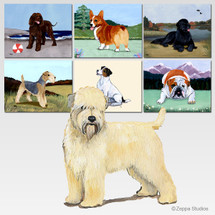 Wheaten Terrier Scenic Mouse Pads