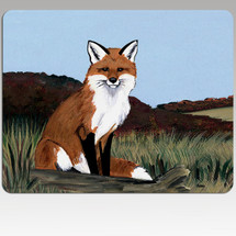 Sitting Fox Mouse Pad
