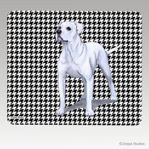 American Bulldog Houndstooth Mouse Pad