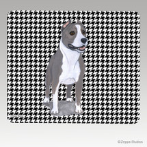 American Staffordshire Terrier Houndstooth Mouse Pad