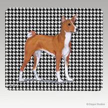 Basenji Houndstooth Mouse Pad